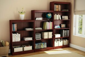 A sample Bookcase, Leaning Bookshelf and 3-Shelf Bookcase